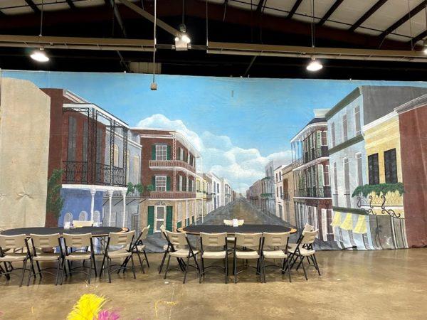 Mardi Gras New Orleans Street View Backdrop