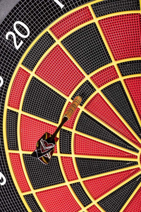 Close Up of dart board scoring area
