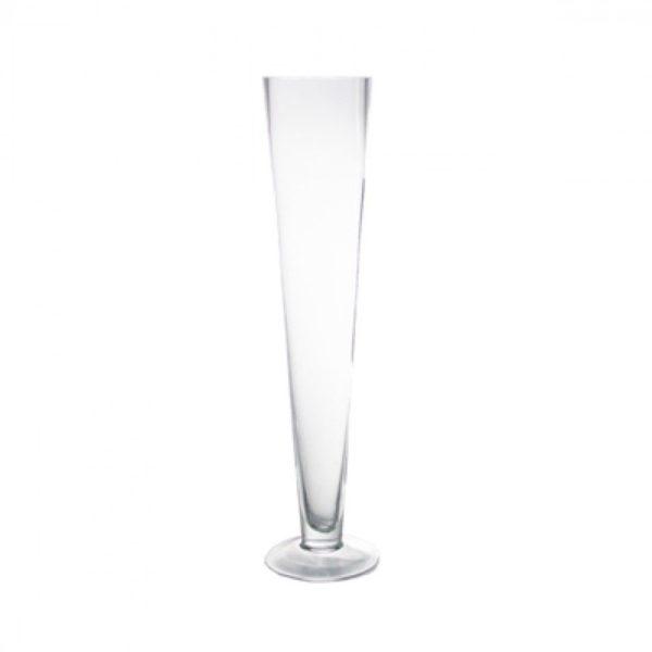 Clear Glass Pilsner Style Vase