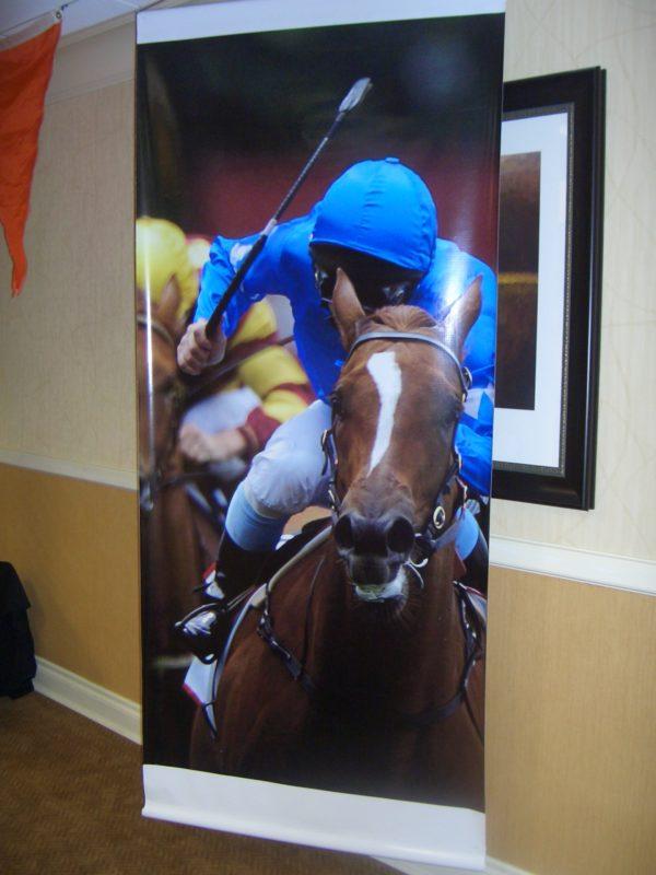 Horse Race Jockey Banner
