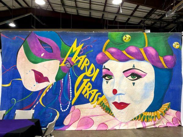 Mardi Gras New Orleans Mask Backdrop