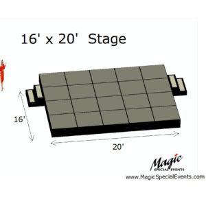 Stage Low Rental 16x20