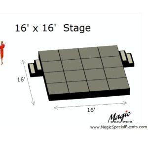 Stage Low Rental 16x16