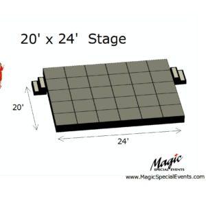 Stage Rental Low 20x24
