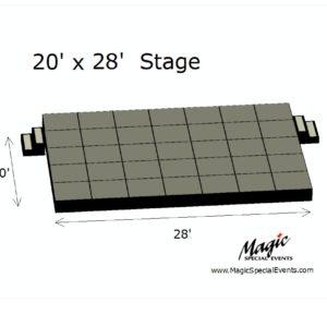 Stage Low Rental 20x28