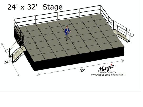 Stage Riser Rental 24x32