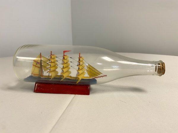 Ship or Boat in a Bottle Vintage Centerpiece